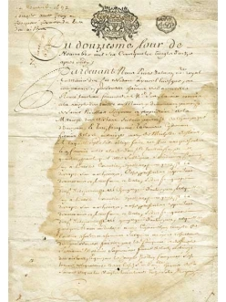 Рисовая бумага для декупажа Calambour Pau-059 Старое письмо, 35х50 см