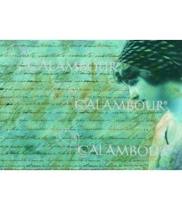 """Рисовая бумага для декупажа Calambour Pau-060 """"Письмо и девушка"""", 35х50 см"""