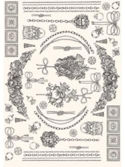 """Декупажная карта Calambour PR 10 """"Гирлянды и цепи, стиль Print Room"""", 50х70 см"""