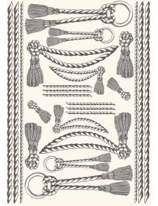 """Декупажная карта Calambour PR 12 """"Веревки и кисточки, стиль Print Room"""", 50х70 см"""