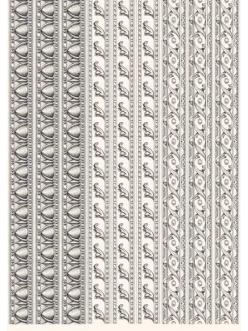 Декупажная карта Классические бордюры, стиль Print Room, 50х70 см