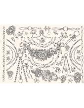 """Декупажная карта Calambour PR 18 """"Цепи и гирлянды, стиль Print Room """", 50х70 см"""