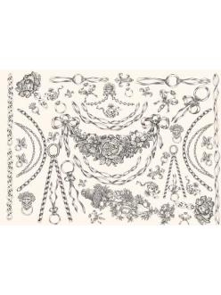 Декупажная карта Calambour PR 18 Цепи и гирлянды, стиль Print Room , 50х70 см