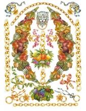 """Декупажная карта Calambour PR 32 """"Цепи и гирлянды из фруктов, стиль Print Room"""", 50х70 см"""