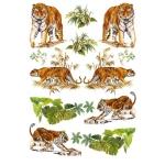 "Рисовая бумага для декупажа Calambour RP-61 ""Тигры"", 35х50 см, 20 г/см2"