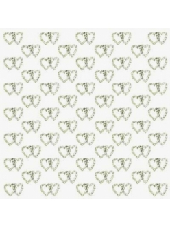 """Бумага дизайнерская для скрапбукинга Calambour SCRB174 """"Свадьба, сердечки"""", 30,5х30,5 см"""
