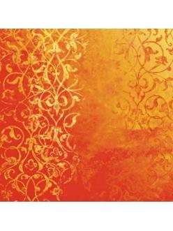 Бумага дизайнерская для скрапбукинга Calambour SCRB318 Персидский орнамент, красный, 30,5х30,5 см
