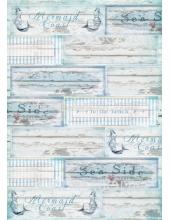 "Рисовая бумага для декупажа Calambour TCR 04 ""Море, шебби-шик"", 35х50 см, 20 г/см2"