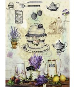 "Рисовая бумага CD01600 ""Прованс, кухня"", 28,2х38,4 см, Craft Premier (Россия)"