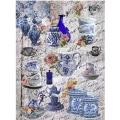"""Рисовая бумага CD01693 """"Голубая посуда"""", 28,2х38,4 см, Craft Premier (Россия)"""