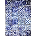 """Рисовая бумага CD01709 """"Голубая плитка"""", 28,2х38,4 см, Craft Premier (Россия)"""