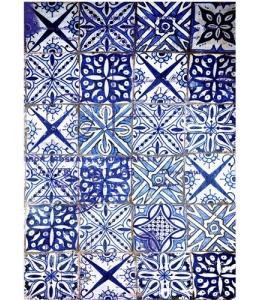 """Рисовая бумага """"Голубая плитка"""" 21×29,7 см, Craft Premier"""