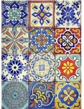 """Рисовая бумага CD01716 """"Разноцветная плитка"""", 28,2х38,4 см, Craft Premier (Россия)"""