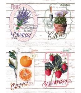 """Рисовая бумага CP00317 """"Садовые растения"""", 28,2х38,4см, Craft Premier (Россия)"""