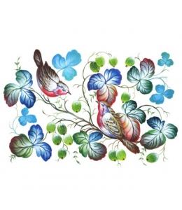 """Рисовая бумага CP00751 """"Нежные птички"""", 28,2х38,4см, Craft Premier (Россия)"""