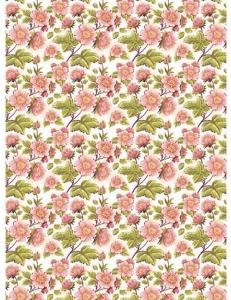 """Рисовая бумага CP01246 """"Цветочки земляники"""", 28,2х38,4 см, Craft Premier (Россия)"""