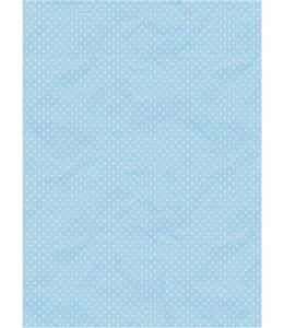 """Рисовая бумага """"Белый горох на голубом фоне"""", 21x29,7см Craft Premier"""