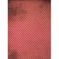 """Рисовая бумага """"Белый горох на красном фоне"""", 21x29,7см Craft Premier"""