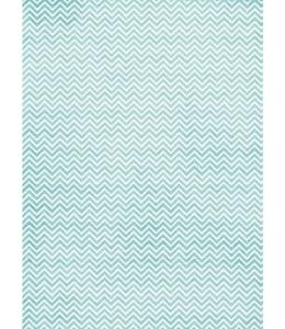 """Рисовая бумага """"Голубой зигзаг"""", 21x29,7см Craft Premier"""