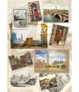 """Рисовая бумага CP04242 """"Путешествие по Европе"""", 28,2х38,4 см, Craft Premier (Россия)"""