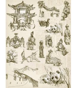 """Рисовая бумага """"Китай"""", 21x29,7см Craft Premier"""