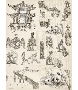 """Рисовая бумага CP01802 """"Китай"""", 28,2х38,4см, Craft Premier (Россия)"""