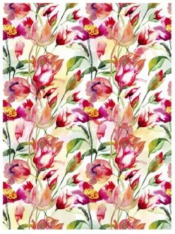 Рисовая бумага для декупажа Тюльпаны, акварель, 28,2х38,4 см, Craft Premier