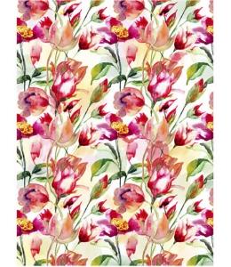 """Рисовая бумага CP01888 """"Тюльпаны, акварель"""", 28,2х38,4 см, Craft Premier (Россия)"""