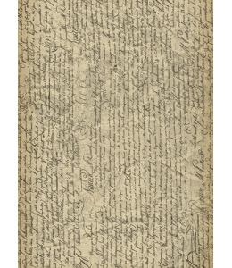 """Рисовая бумага """"Винтажный текст"""", 21x29,7см Craft Premier"""