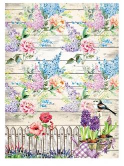 Рисовая бумага для декупажа Дивный сад, формат А4, Craft Premier