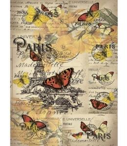 "Рисовая бумага CP03550 ""Открытка из Парижа"", 28,2х38,4см, Craft Premier (Россия)"