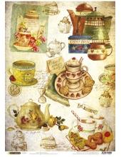"""Рисовая бумага CP04402 """"Чайная церемония"""", 28,2х38,4см, Craft Premier (Россия)"""