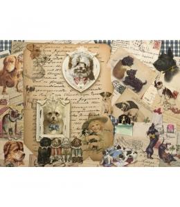 """Рисовая бумага CP04587 """"Собачки с письмами"""", 28,2х38,4см, Craft Premier (Россия)"""