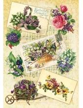 "Рисовая бумага CP05479 ""Винтажные цветы"", 28,2х38,4 см, Craft Premier (Россия)"