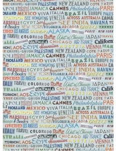 """Рисовая бумага """"Названия стран и городов"""" 21×29,7 см, Craft Premier"""