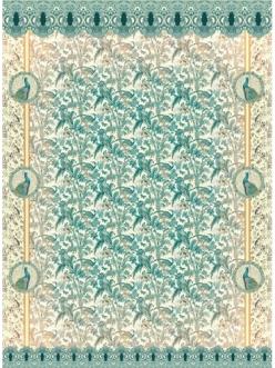 Рисовая бумага для декупажа Гобелен с павлинами, 21x29,7см Craft Premier CP08678