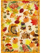 """Рисовая бумага CP08722 """"Осенние лисья, грибы, ежик"""", 28,2х38,4 см, Craft Premier (Россия)"""