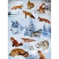 """Рисовая бумага """"Зима, волки и лисы"""", 21x29,7см Craft Premier"""