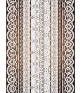 "Рисовая бумага CP08937 ""Кружева 2"", 28,2х38,4 см, Craft Premier (Россия)"