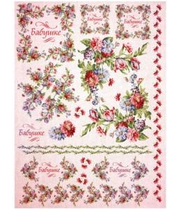 """Рисовая бумага """"Цветы для бабушки"""", 21x29,7см Craft Premier"""