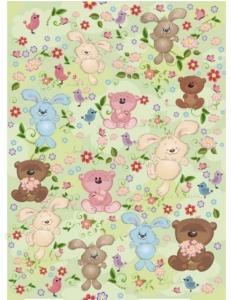 """Рисовая бумага """"Медвежата и зайчата"""" 21×29,7 см, Craft Premier"""