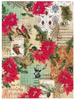 Рисовая бумага для декупажа Новогодний коллаж, формат А4 Craft Premier