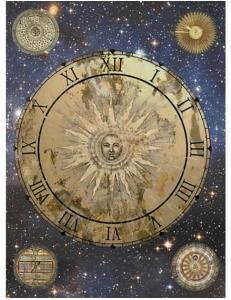 "Рисовая бумага CPD0520 ""Астрология. часы"", 28,2х38,4 см, Craft Premier (Россия)"