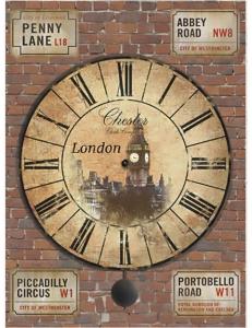 """Рисовая бумага """"Часы Лондон"""" 21×29,7 см, Craft Premier"""