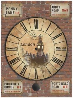 Рисовая бумага для декупажа Часы Лондон, формат А4, Craft Premier