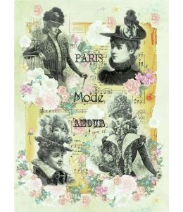 """Рисовая бумага CPD0530 """"Дамы Парижа"""", 28,2х38,4см, Craft Premier (Россия)"""