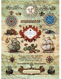 """Рисовая бумага CPD0545 """"Морское путешествие"""", 21x29,7см Craft Premier"""