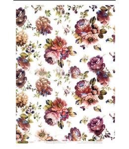 "Рисовая бумага CPD0566 ""Винтажные цветы"", 28,2х38,4 см, Craft Premier (Россия)"