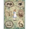"""Рисовая бумага """"Алиса в стране чудес"""" 21×29,7 см, Craft Premier"""