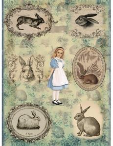 "Рисовая бумага CPD0580 ""Алиса"", 28,2х38,4 см, Craft Premier (Россия)"